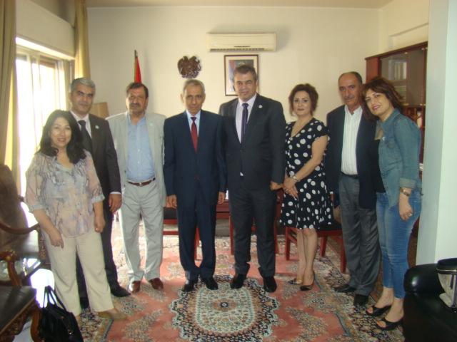 صور زيارة الوفد الى سفارة ارمينيا