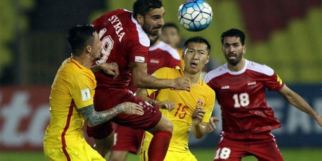 ضمن الجولة الثامنة من الدور النهائي لتصفيات آسيا  .. منتخب سورية يتعادل مع نظيره الصيني