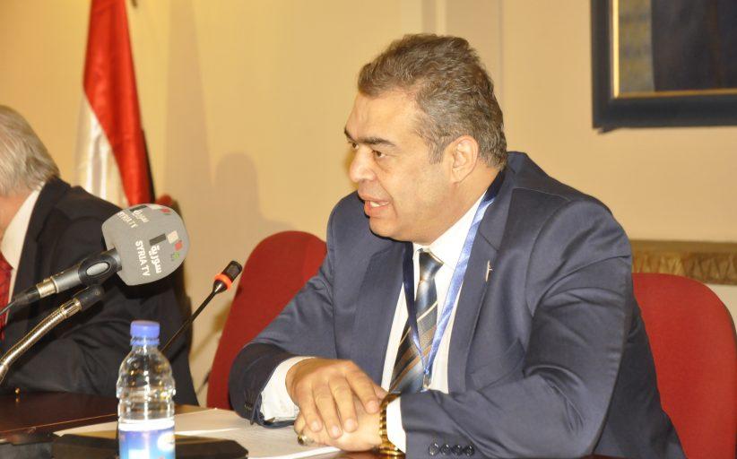محاضرة رئيس تجمع سورية الام الدكتور محمود العرق بعنوان