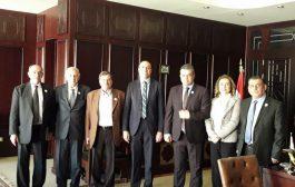 وفد تجمع سورية الأم يزور سفارة جمهورية مصر العربية ويؤكد عمق العلاقة بين البلدين