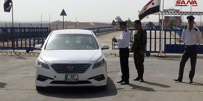 إعادة فتح معبر نصيب- جابر الحدودي مع الأردن وبدء حركة عبور الأشخاص والسيارات