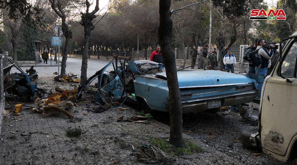 انفجار سيارة ملغومة في دمشق ولا إصابات