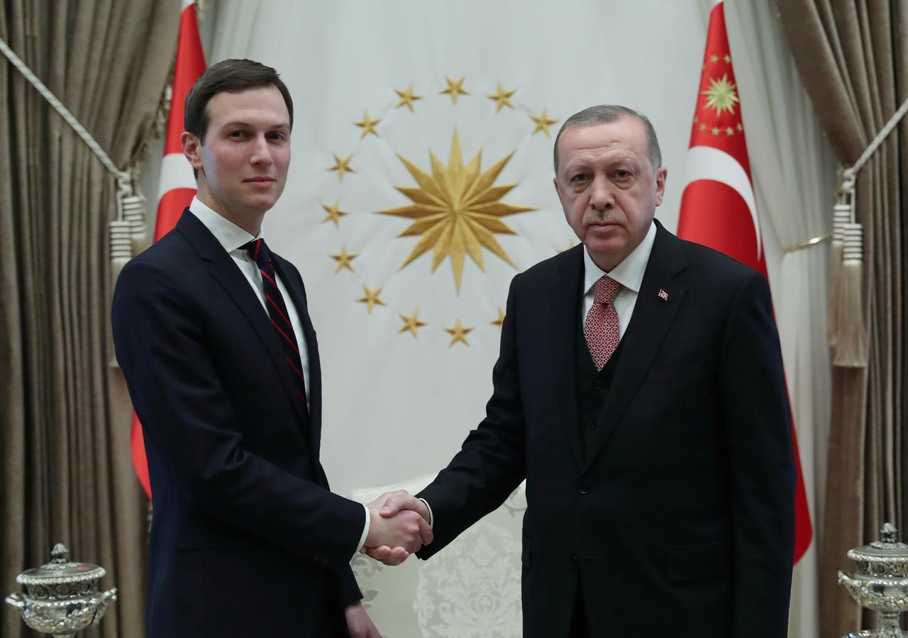كوشنر مستشار ترامب يبحث مع أردوغان خطة السلام في الشرق الأوسط