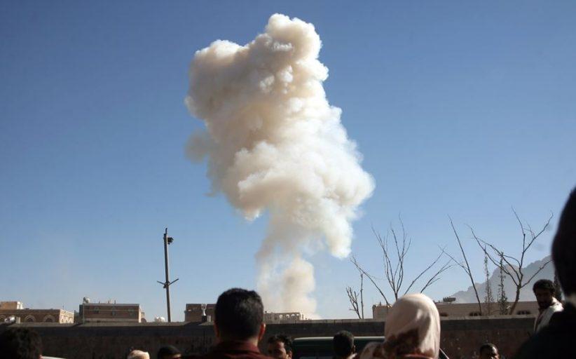 التحالف بقيادة السعودية يقصف مواقع للحوثيين في صنعاء