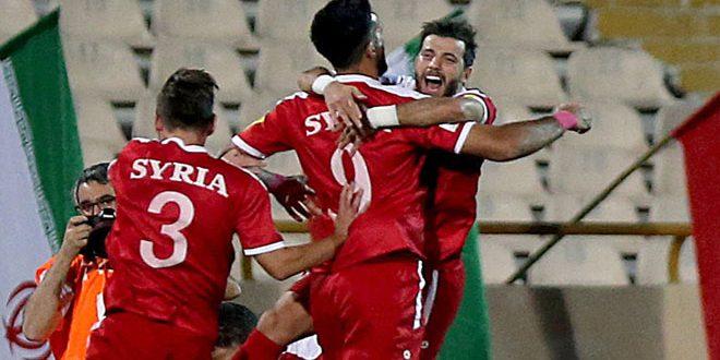 منتخب سورية لكرة القدم يتأهل إلى الملحق الآسيوي في تصفيات كأس العالم..