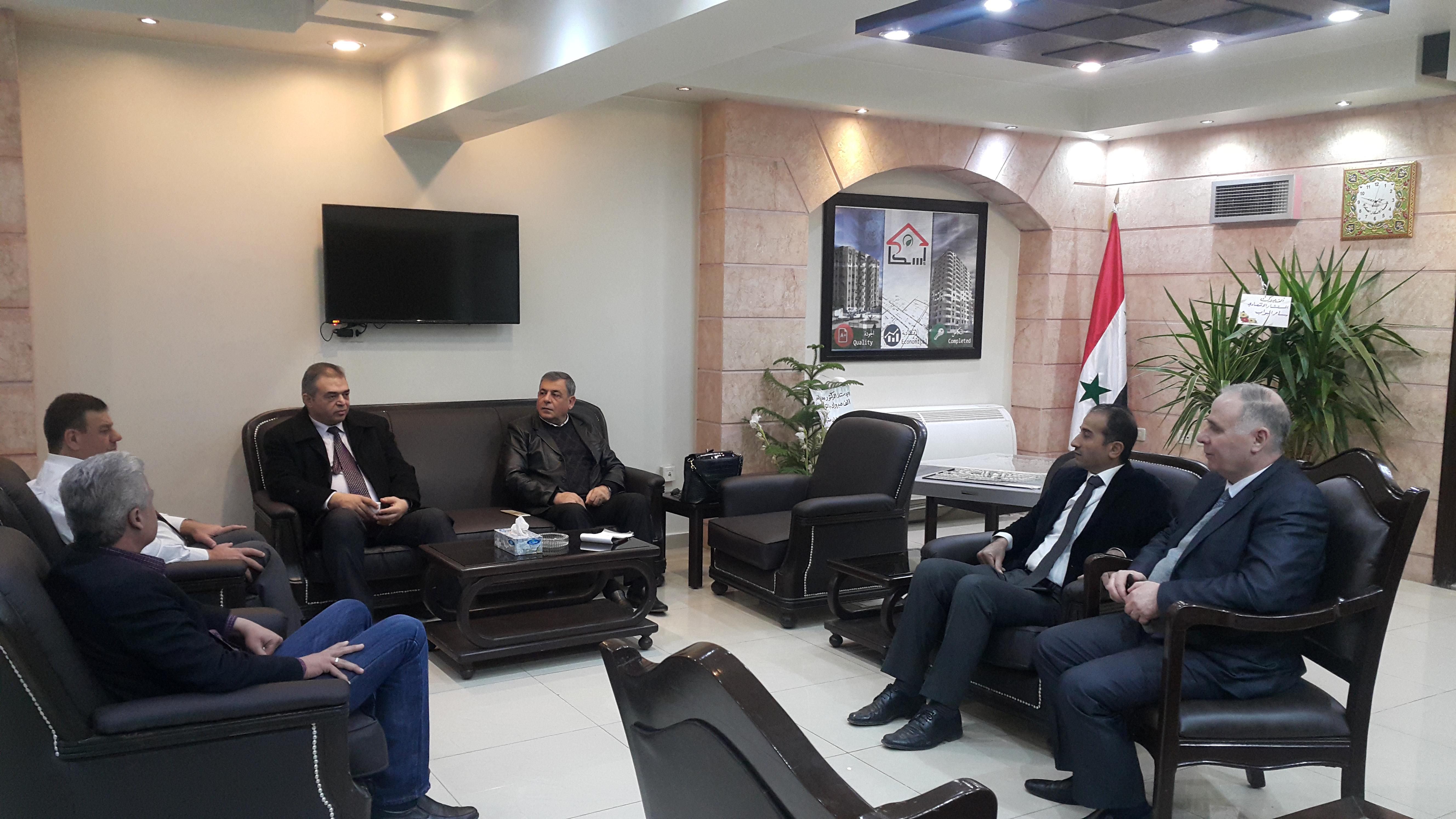 استعدادا للمؤتمر الاقتصادي الثاني .. وفد تجمع سورية الام يلتقي المدير العام لمؤسسة الأسكان العامة