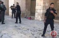 إطلاق نار باتجاه فتى فلسطيني داخل الأقصى